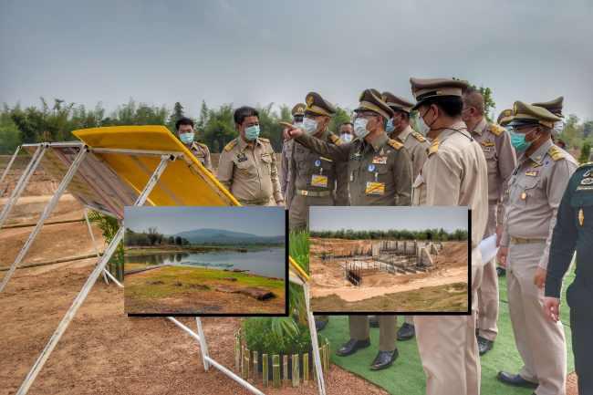 องคมนตรีตรวจเยี่ยมโครงการพัฒนาแหล่งน้ำอันเนื่องมาจากพระราชดำริ จังหวัดสกลนคร